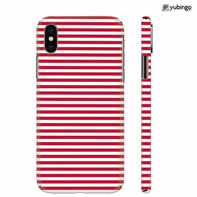 Red Stripes Back Cover for Apple iPhone X