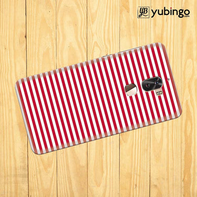 Red Stripes Back Cover for Coolpad Cool 1-Image3