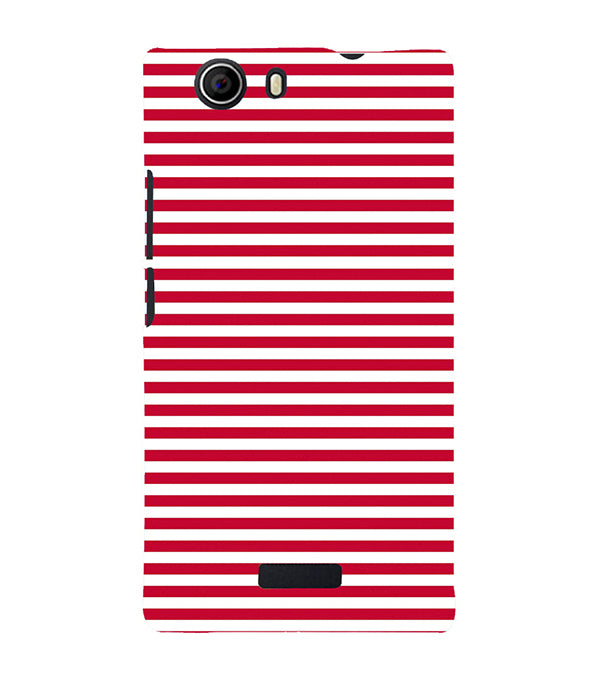 low priced 6eced ecafd Red Stripes Back Cover for Micromax Canvas Nitro 2 E311