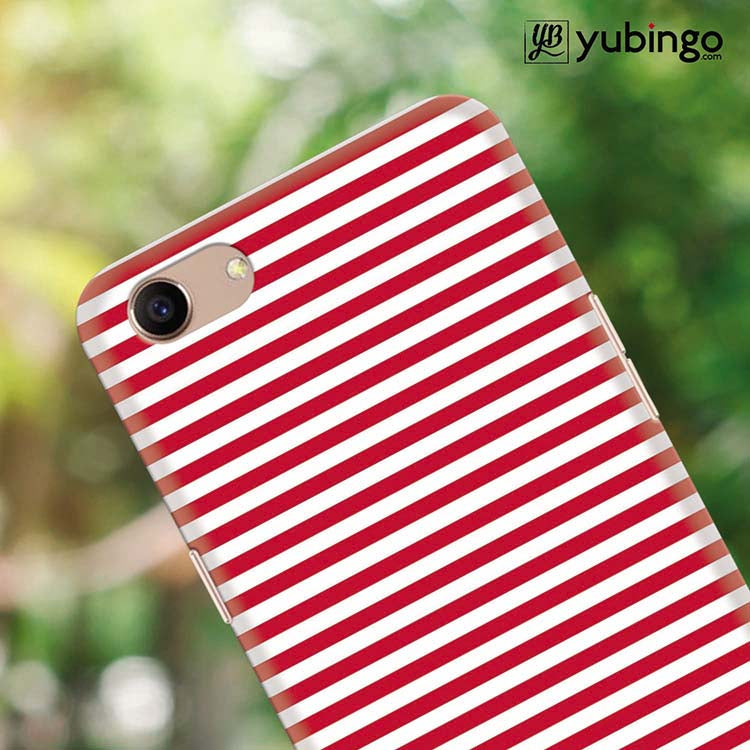 YuBingo - Buy Red Stripes Back Cover for Oppo A83 in India