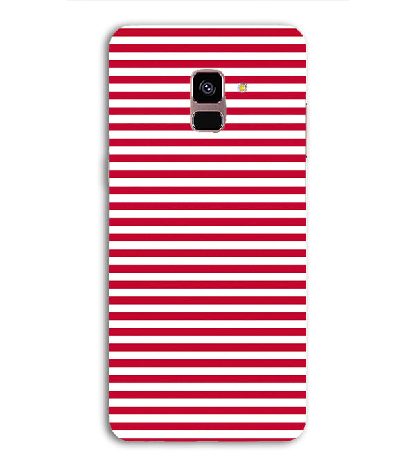 Red Stripes Back Cover for Samsung Galaxy A8 (2018)
