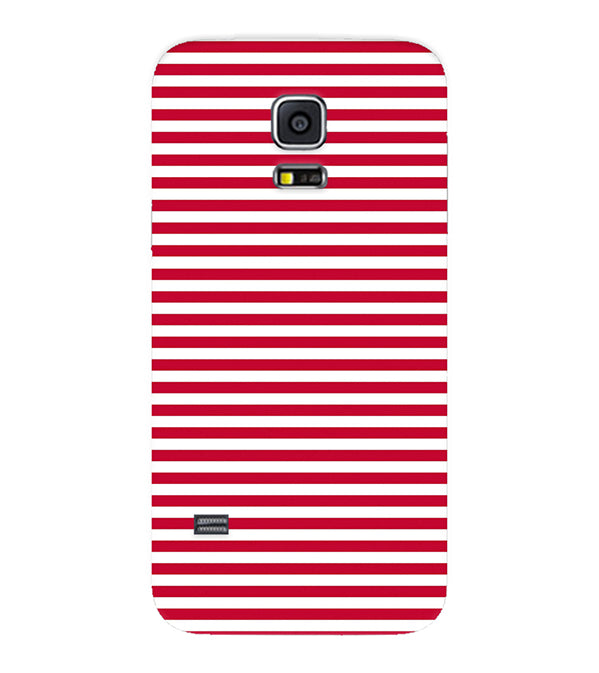 cheap for discount d1345 a8eb0 Red Stripes Back Cover for Samsung Galaxy S5 Mini