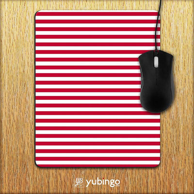 Red Stripes Mouse Pad-Image2
