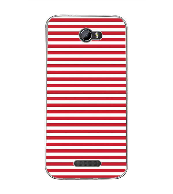 Red Stripes Back Cover for Intex Lion 3