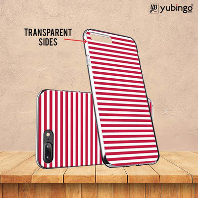 Red Stripes Back Cover for InFocus M350-Image3