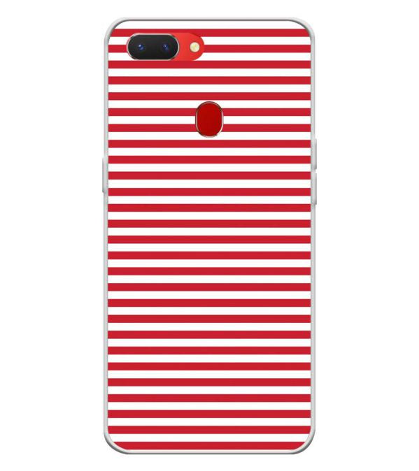 online store 4a7cd 72462 Red Stripes Back Cover for Oppo Realme 2 Pro