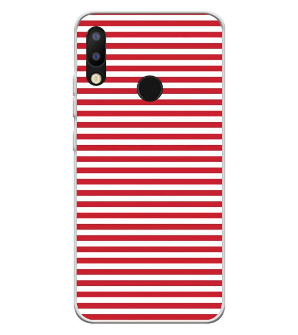 Red Stripes Soft Silicone Back Cover for Tecno Camon i2