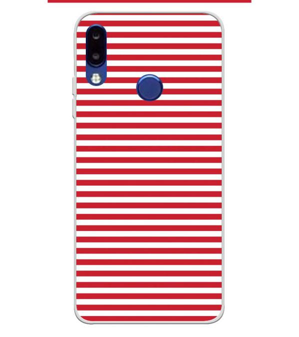 classic fit 6bb0c 42327 Red Stripes Soft Silicone Back Cover for Tecno Camon i2x