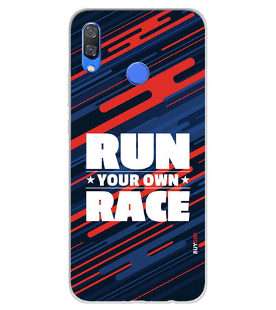Run Own Race Soft Silicone Back Cover for Huawei Y9 (2019)