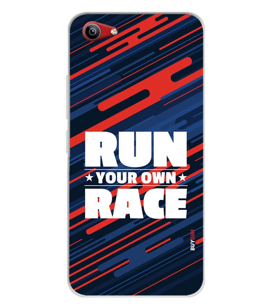 huge selection of f7978 19cf8 Run Own Race Soft Silicone Back Cover for Vivo Y81i