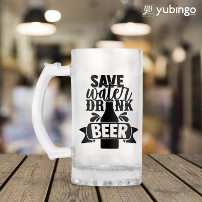 Save Water Drink Beer Beer Mug-Image3