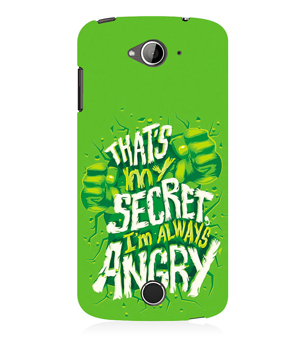 Secret I Am Always Angry Back Cover for Acer Liquid Zade 530