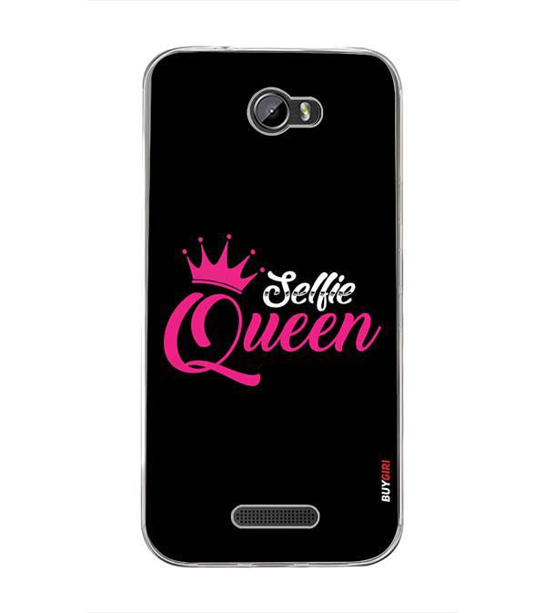 Selfie Queen Back Cover for Intex Lion 3