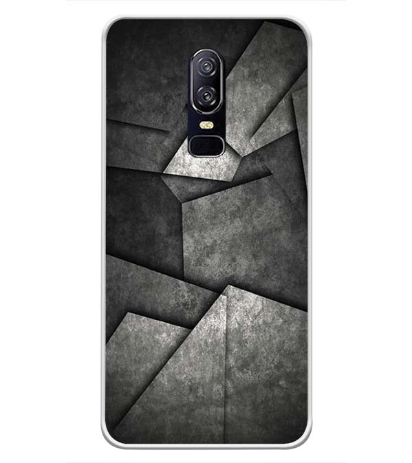 Shades Of Grey Soft Silicone Back Cover for OnePlus 6