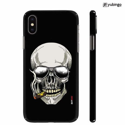Smoking Skull Back Cover for Apple iPhone X