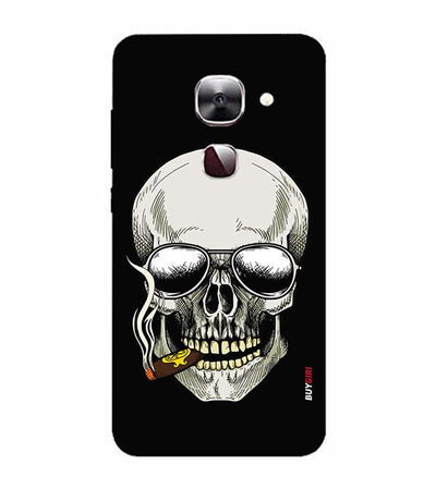 Smoking Skull Back Cover for LeEco Le 2s