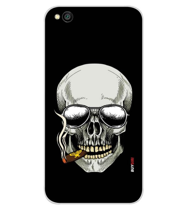 Smoking Skull Back Cover for Xiaomi Redmi Go-Image3