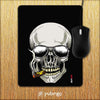 Smoking Skull Mouse Pad-Image2
