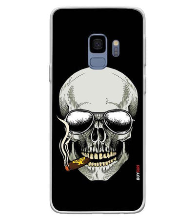 Smoking Skull Back Cover for Samsung Galaxy S9