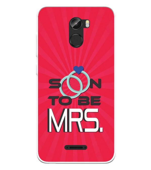 Soon to be Mrs. Soft Silicone Back Cover for Gionee X1s