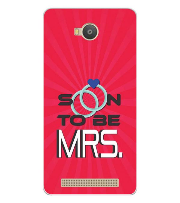 buy popular d1d03 51209 Soon to be Mrs. Soft Silicone Back Cover for Lava A79
