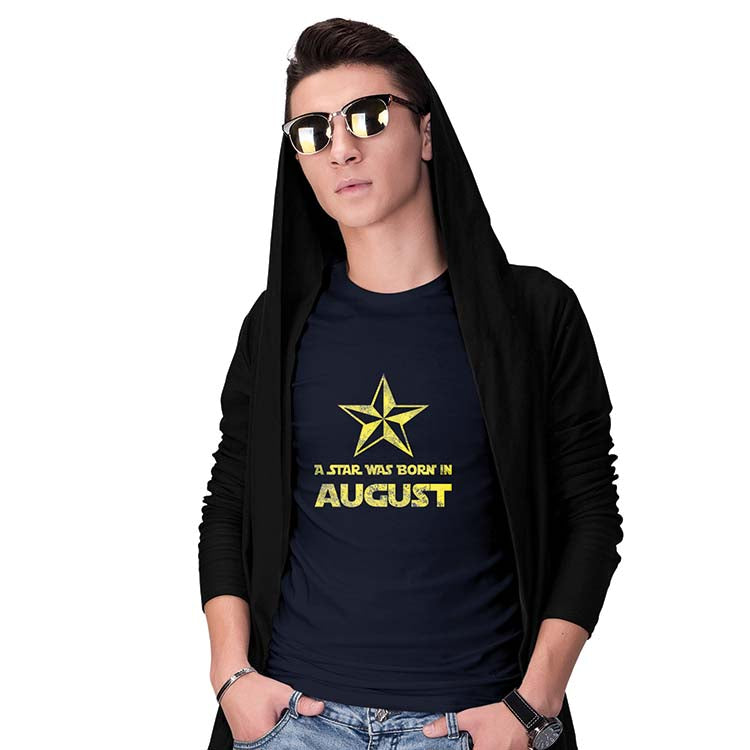 Star Born Customised Month Men T-Shirt