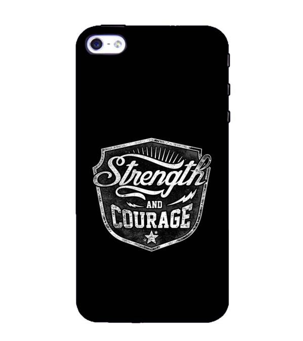 Strength and Courage Back Cover for Apple iPhone 4 : 4S