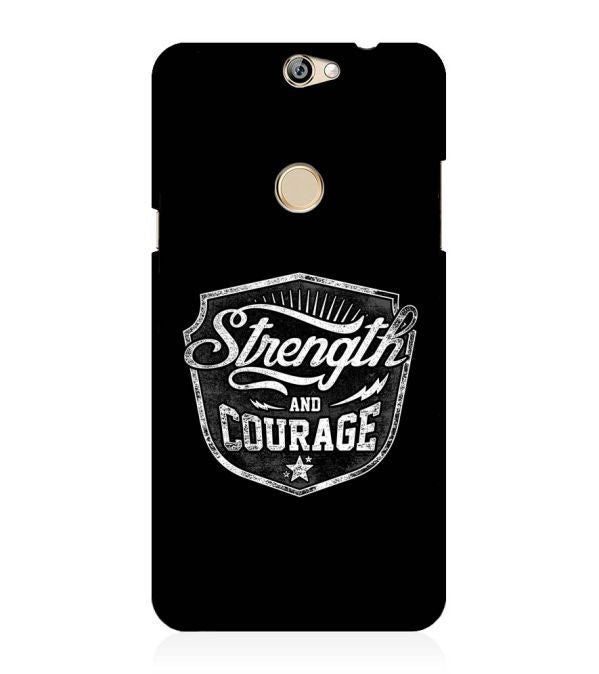 Strength and Courage Back Cover for Coolpad Max