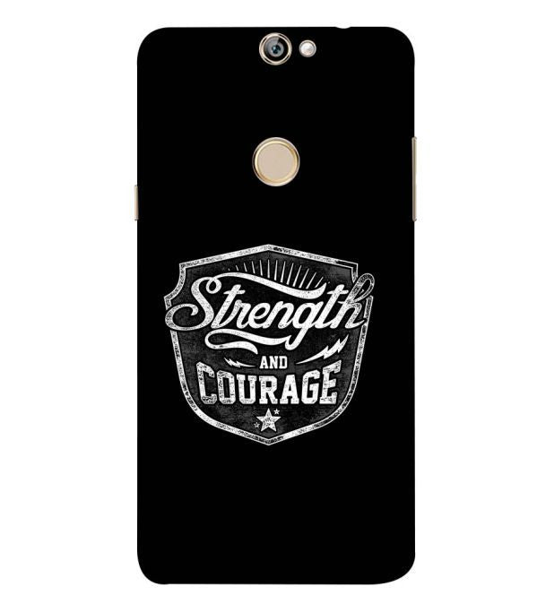 Strength and Courage Back Cover for Coolpad Max A8