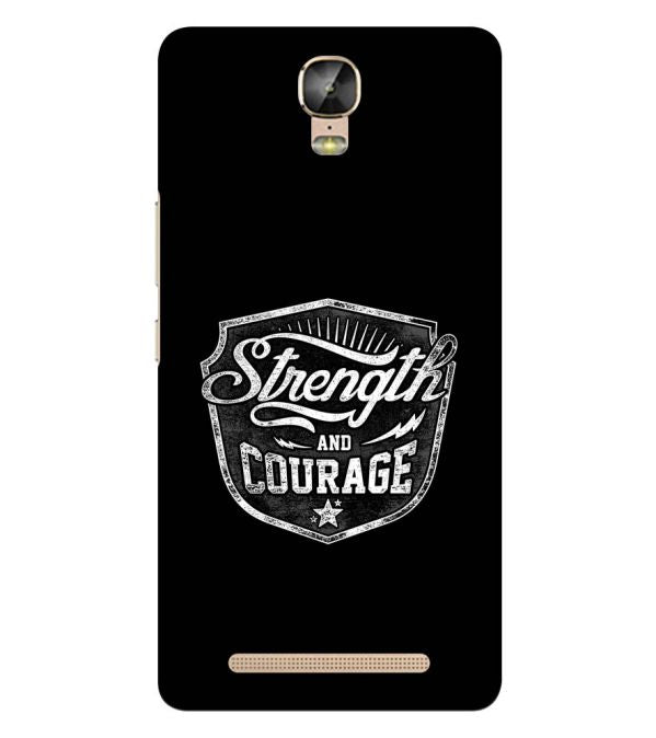 Strength and Courage Back Cover for Gionee Marathon M5 Plus