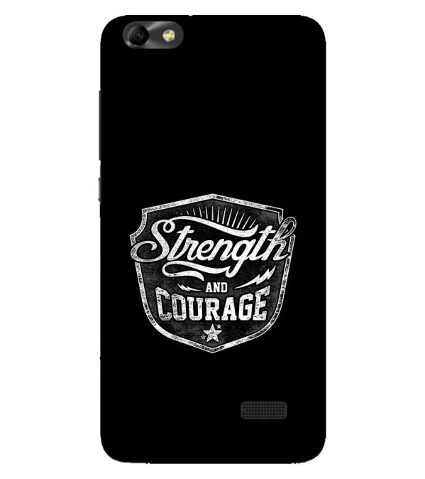 Strength and Courage Back Cover for Huawei Honor 4C