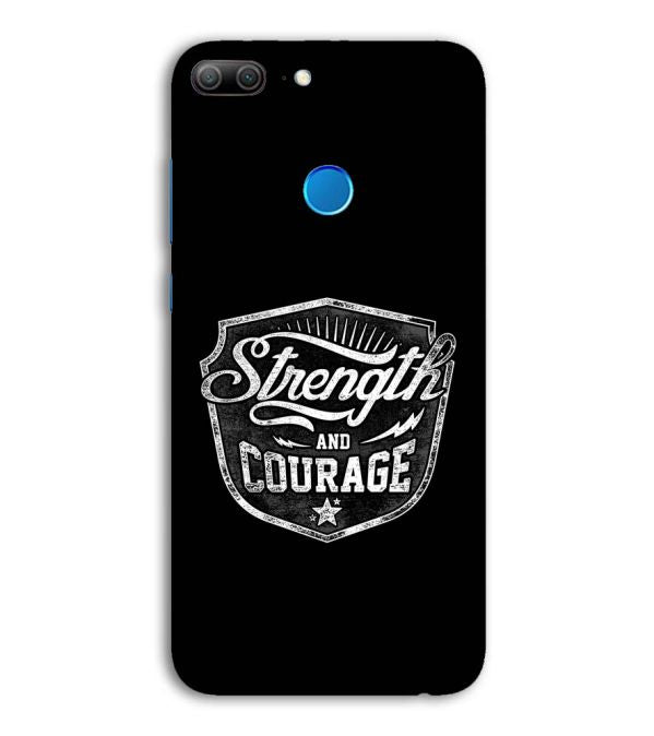 Strength and Courage Back Cover for Huawei Honor 9 Lite