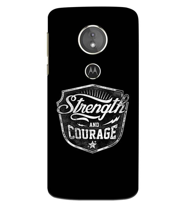 Strength and Courage Back Cover for Motorola Moto E5 Play