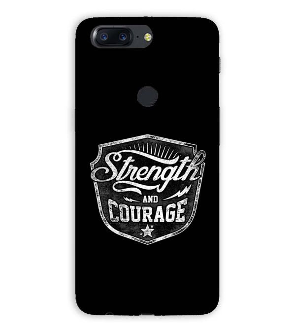 Strength and Courage Back Cover for OnePlus 5T