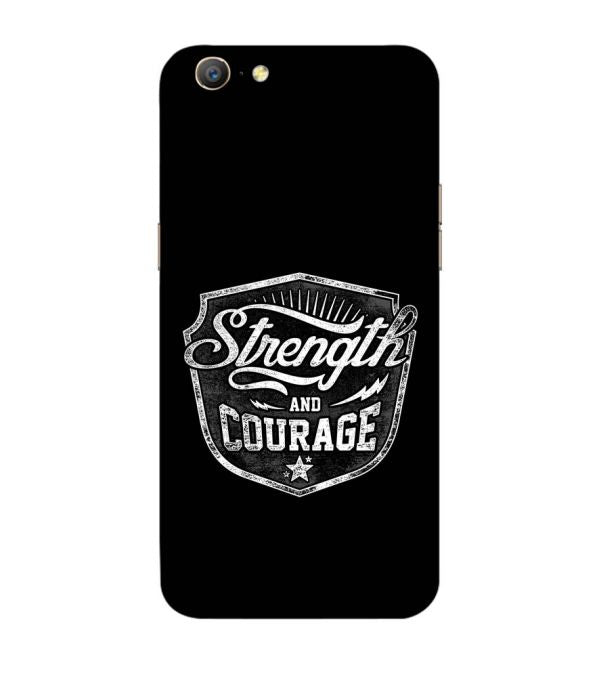 Strength and Courage Back Cover for Oppo A57 : A39