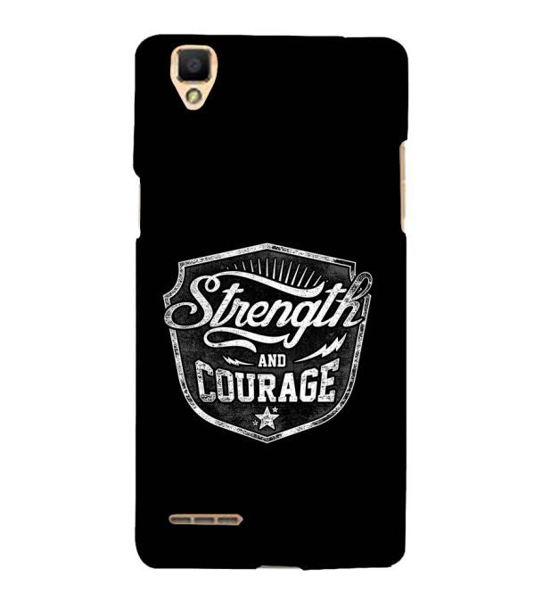 Strength and Courage Back Cover for Oppo F1