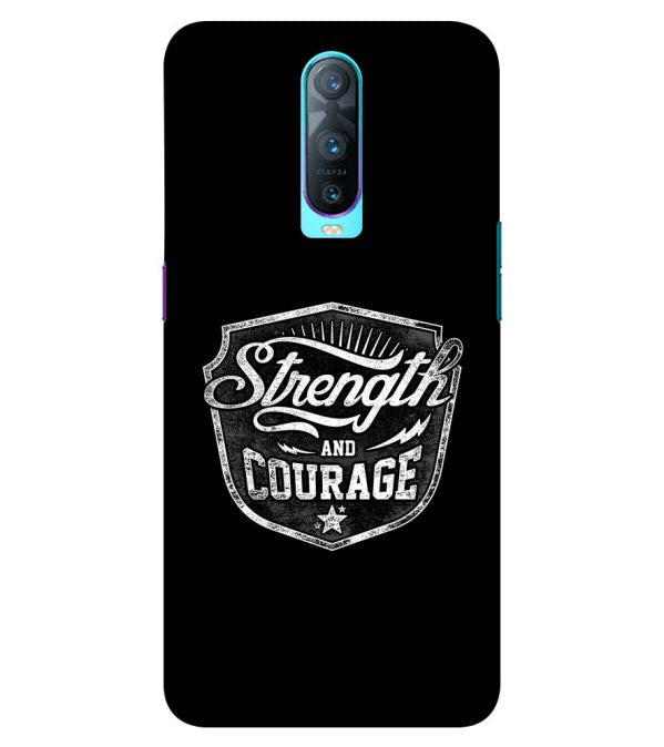Strength and Courage Back Cover for Oppo RX17 Pro