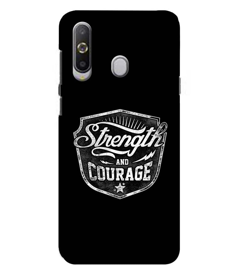 Strength and Courage Back Cover for Samsung Galaxy A8s