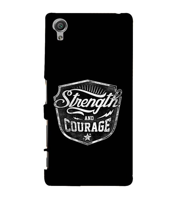 Strength and Courage Back Cover for Sony Xperia X