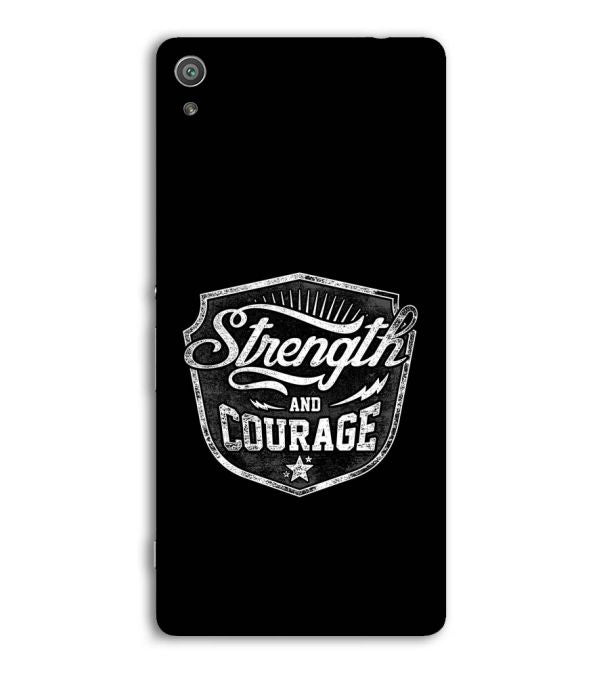 Strength and Courage Back Cover for Sony Xperia XA Ultra