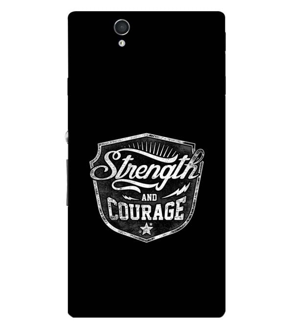 Strength and Courage Back Cover for Sony Xperia Z
