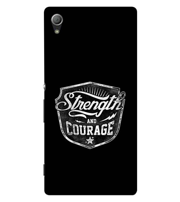 Strength and Courage Back Cover for Sony Xperia Z3+ and Xperia Z4