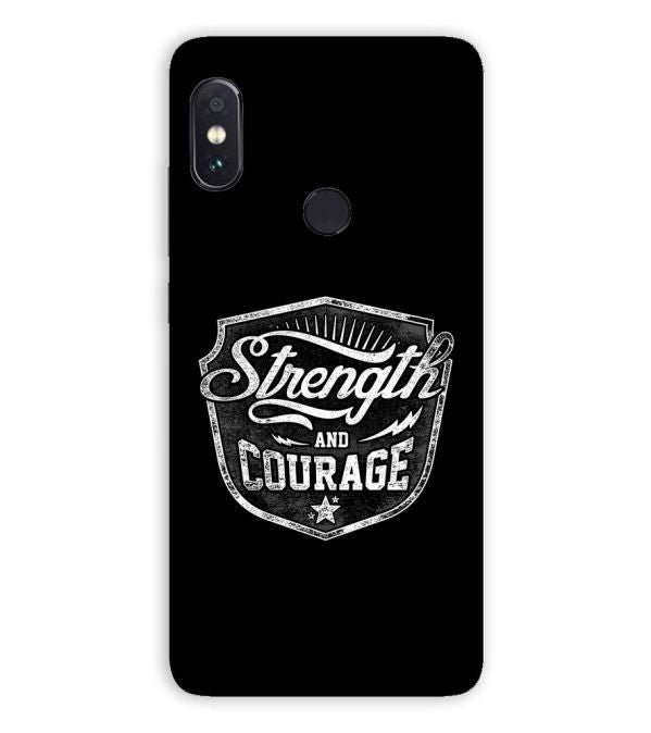 Strength and Courage Back Cover for Xiaomi Redmi Note 5 Pro