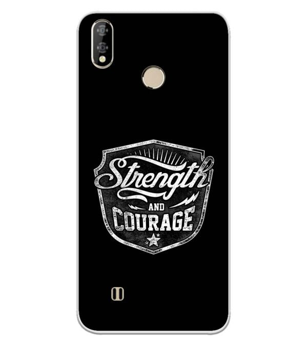 Strength and Courage Back Cover for Coolpad Mega 5-Image3