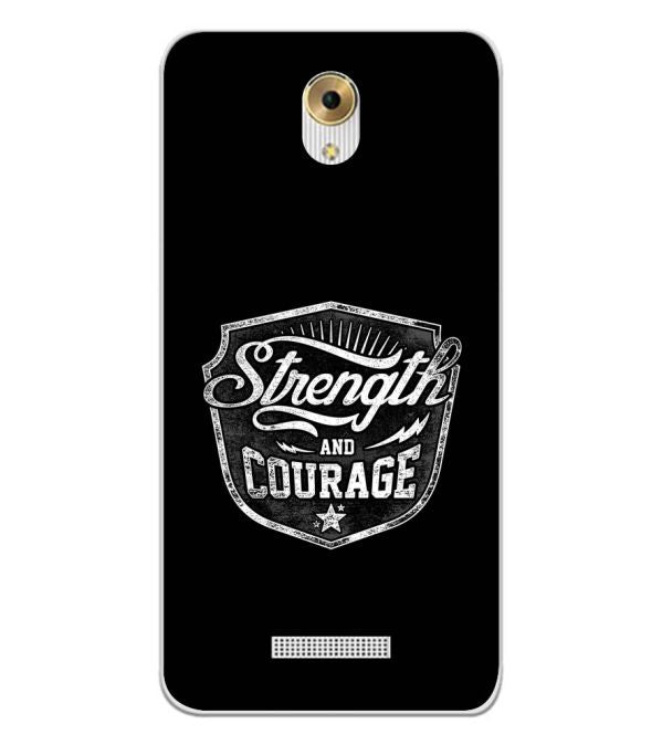 Strength and Courage Back Cover for Coolpad Mega 5M-Image3