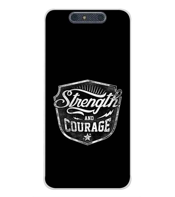 Strength and Courage Back Cover for Micromax Dual 4 E4816-Image3