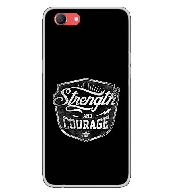 Strength and Courage Back Cover for Oppo Real Me 1-Image3