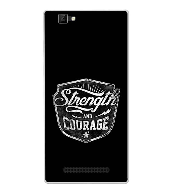 Strength and Courage Back Cover for Xolo Era 1X Pro-Image3