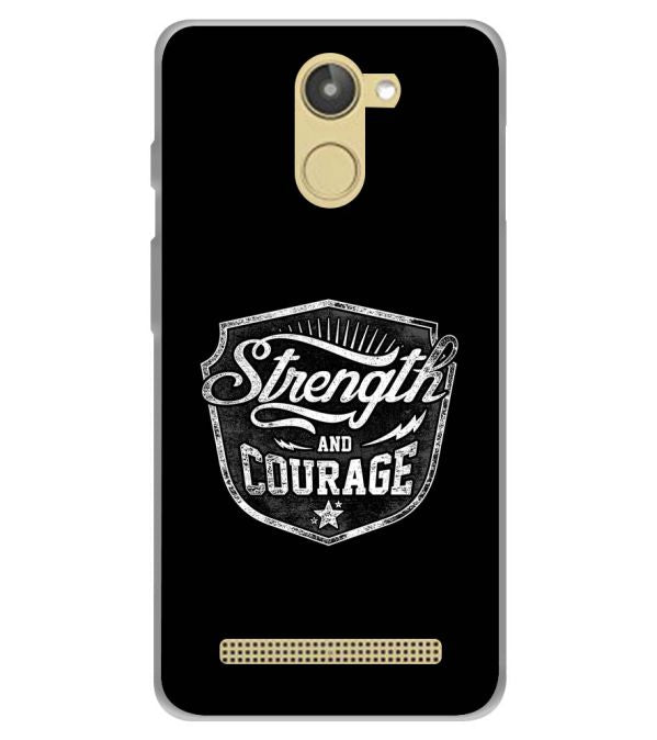 Strength and Courage Soft Silicone Back Cover for 10.or D (Tenor D)