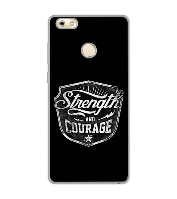 Strength and Courage Soft Silicone Back Cover for Gionee M7 Power